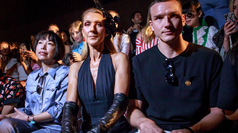Pepe Muñoz, en otro desfile con Céline Dion, en julio de 2019. (EFE)