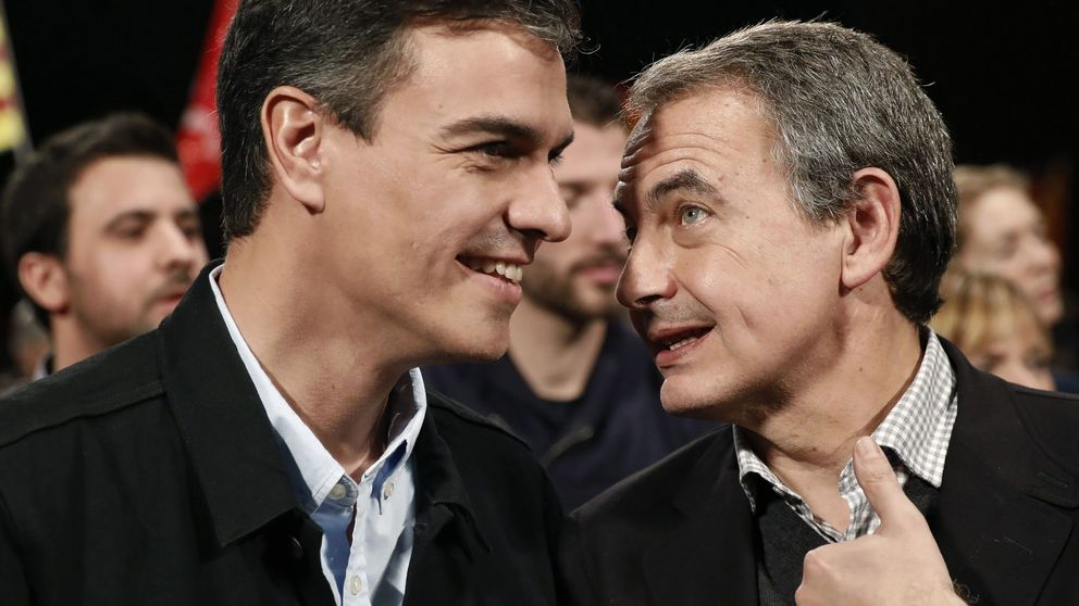 """Sánchez y Zapatero escenifican su reconciliación frente al 'procés': Primero las leyes y luego la voluntad de los hombres"""""""