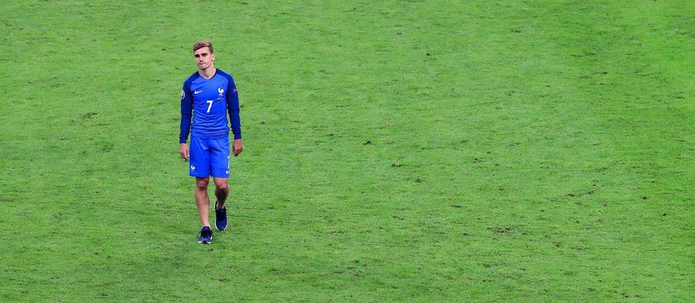 Foto: Griezmann, desolado tras perder la final de la Eurocopa (EFE)
