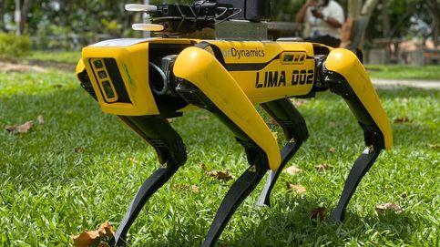 El 'terrorífico' perro-robot que utiliza Singapur para mantener la distancia social