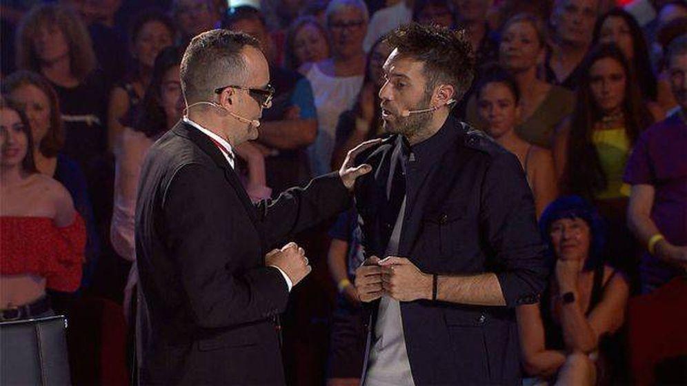 Foto: Risto y Dani Martínez, en 'Got Talent España'. (Telecinco)