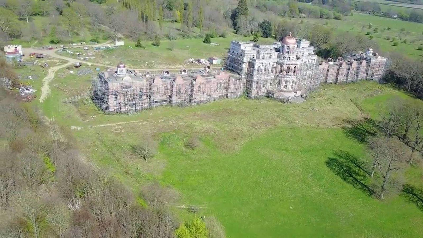 Foto: Hamilton Palace desde el aire