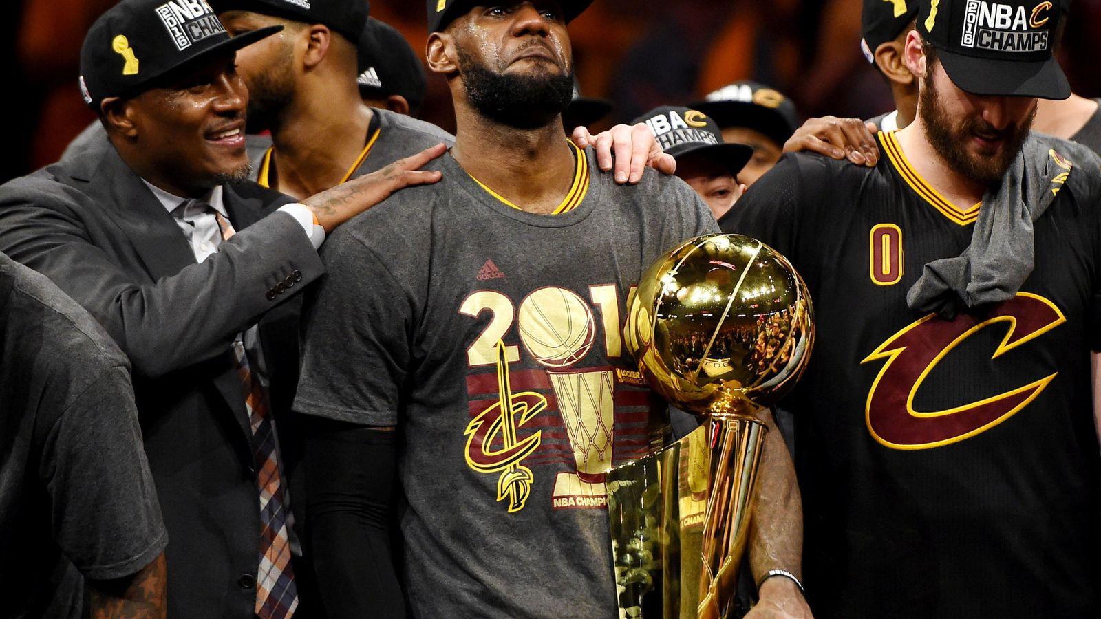 Foto: LeBron James lloró tras ganar la NBA con los Cavaliers (Bob Donnan/USA TODAY Sports)