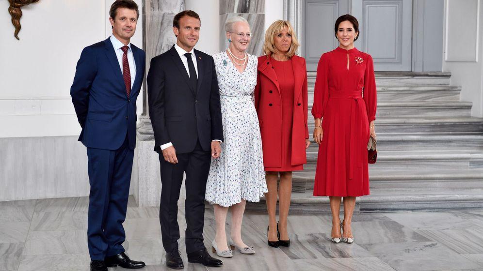 Foto: Visita oficial de los Macron a Dinamarca. (EFE)