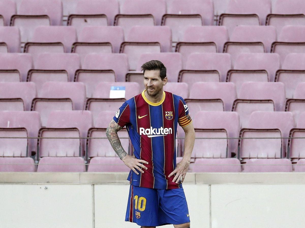 Foto: Messi, durante el Clásico contra el Real Madrid. (EFE)