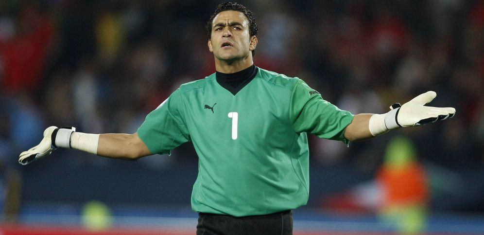 Foto: En la imagen, El Hadary, guardameta de la selección de Egipto (EFE)