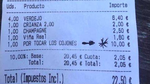 """Un bar cobra a unos clientes 10 euros de más """"por tocar los cojones"""""""