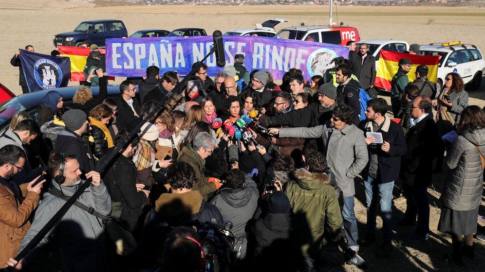 Foto: El cierre de campaña de ERC frente a la cárcel de Estremera, en imágenes