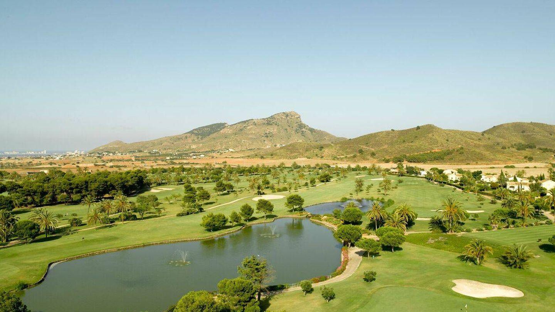 Así es el paisaje de La Manga Club, un paraíso del golf.
