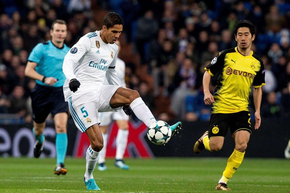 Foto: Varane, duerante el partido entre el Real Madrid y el Borussia Dortmund. (EFE)