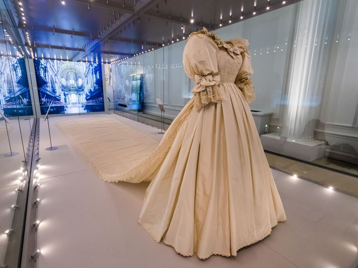 Foto: El vestido de la princesa Diana. (EFE)