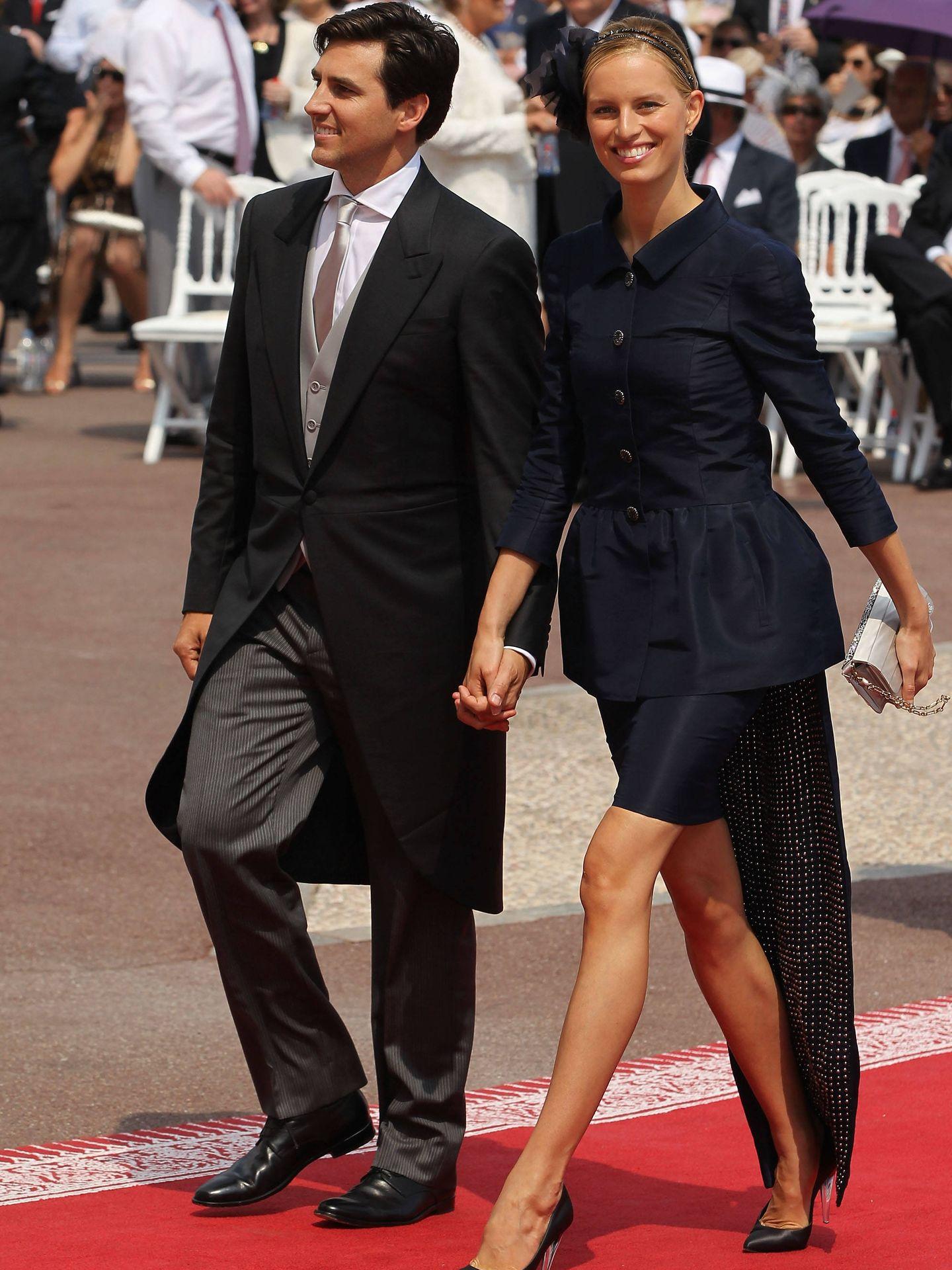 Karolina Kurkova, en la boda de Alberto y Charlène de Mónaco. (Getty)