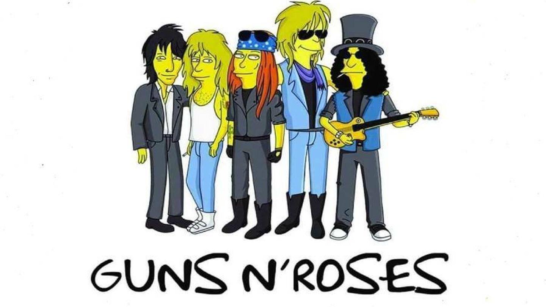 Guns N' Roses 'simpsonizados'