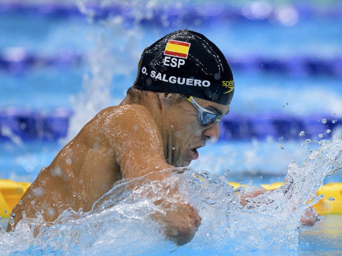Foto: Óscar Salguero consigue plata en 100 metros braza (EFE)