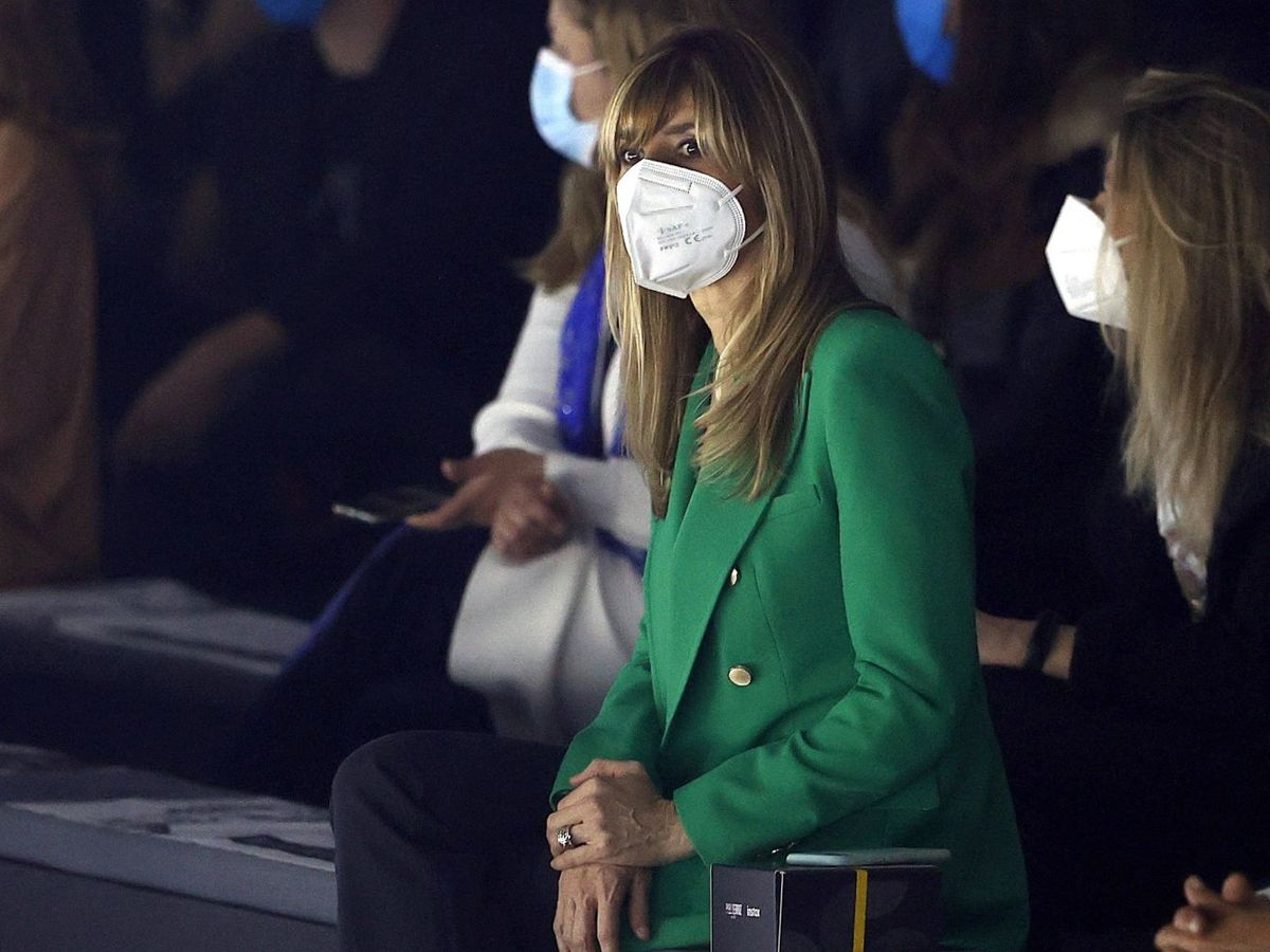 Foto: Begoña Gómez, ayer en la Mercedes-Benz Fashion Week Madrid. (MBFWM)