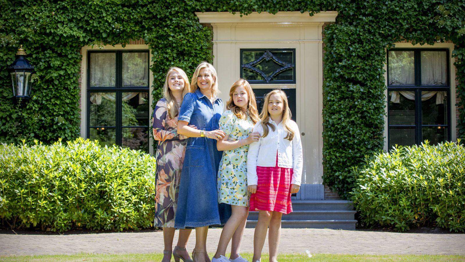 Foto:  Máxima de Holanda, con sus tres hijas. (Getty)