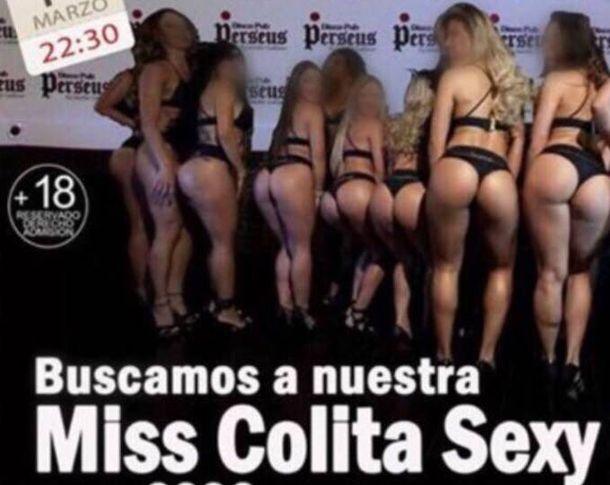 Foto: Concurso 'Miss colita sexy' en una discoteca de Vitoria. (Twitter)