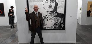 Post de El artista de la obra sobre Franco: