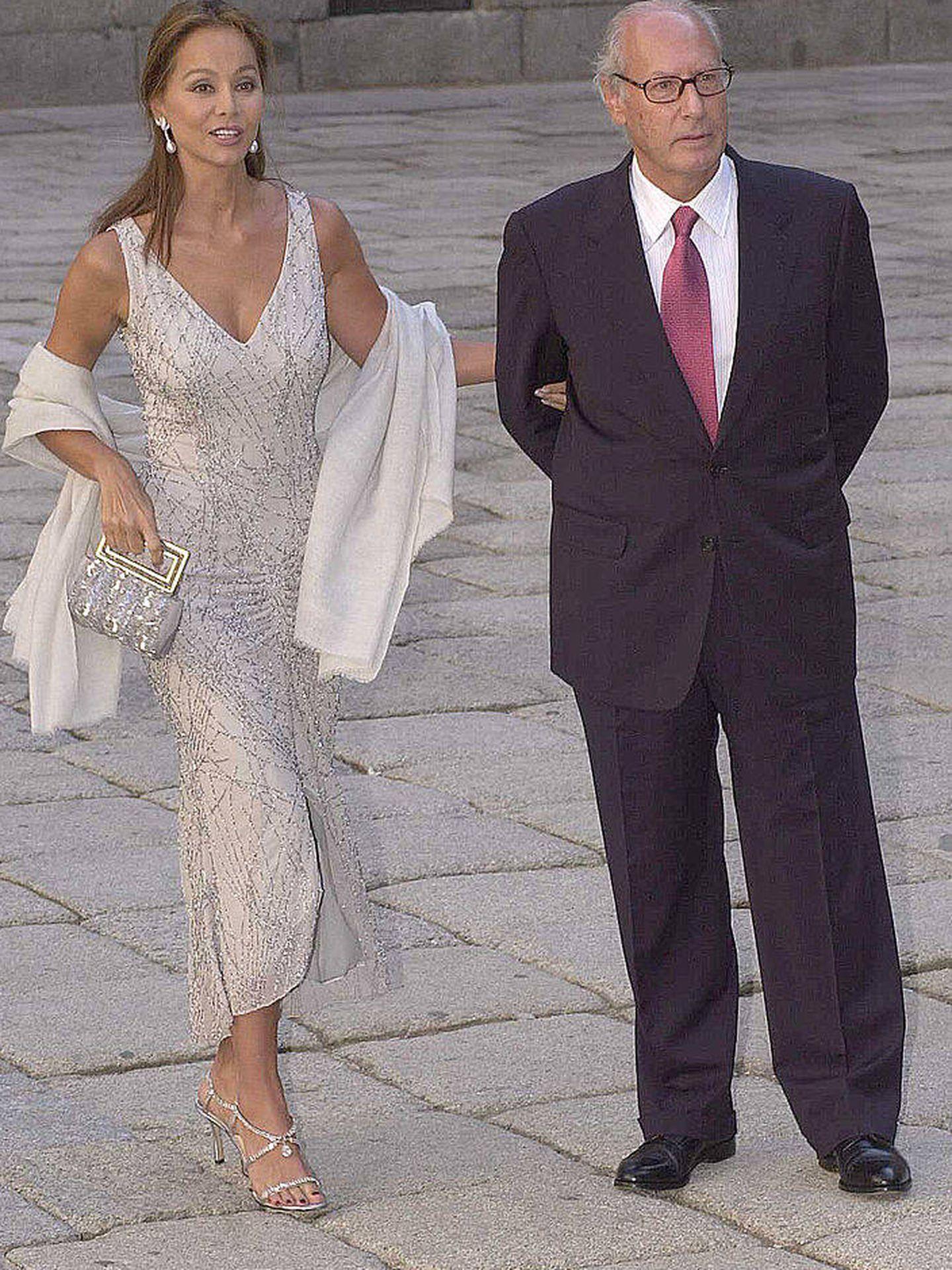 Isabel, en la boda de Ana Aznar. (Getty)