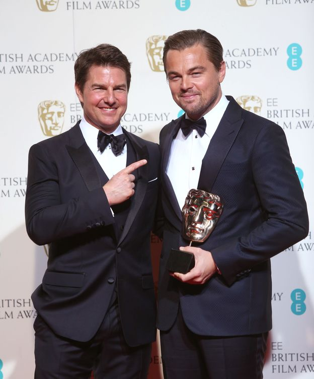 Foto: Tom Cruise y Leonardo DiCaprio en los Bafta (Gtres)