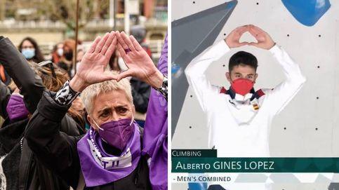 ¿Corazón o símbolo feminista? El gesto de Alberto Ginés al subir al podio en Tokio