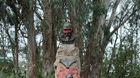 Vandalizan la estatua de Cervantes en el Golden Gate Park de San Francisco