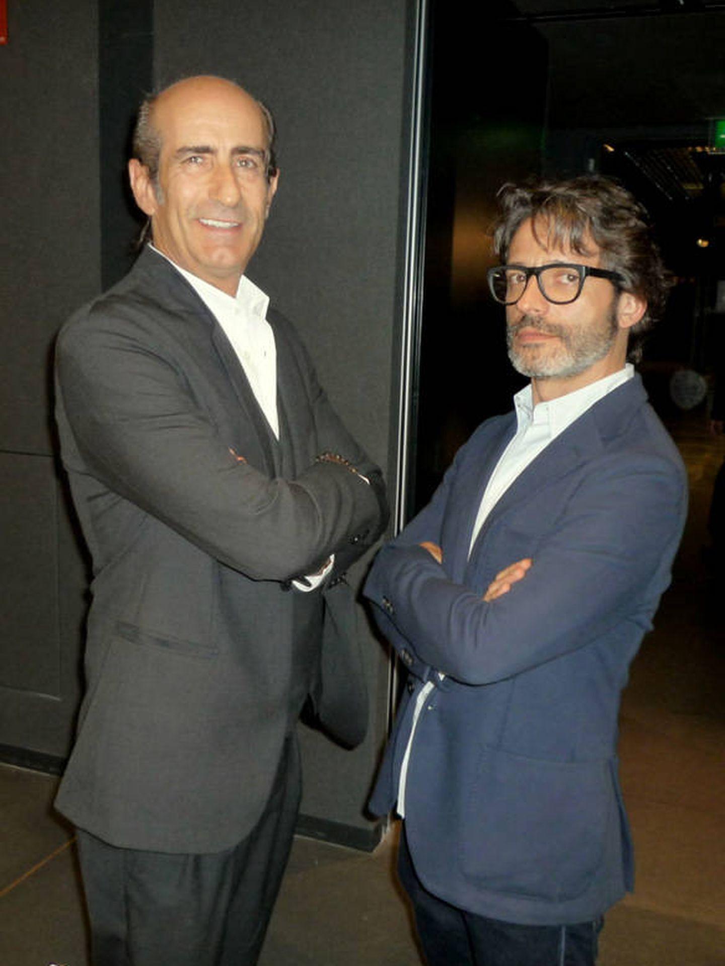 Jorge Cerqueda (izq.) y Fernando Romero en una foto tomada por su amigo y cronista Carlos Martorell (cedida por él a Vanitatis).