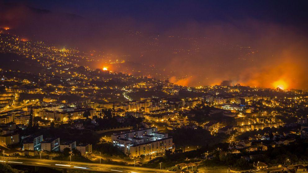 El incendio en Funchal (Madeira), en imágenes