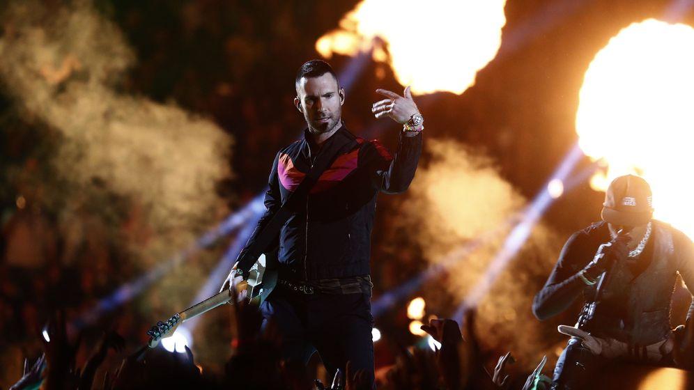 Foto: Maroon 5 en la Super Bowl 2019. (Agencias)