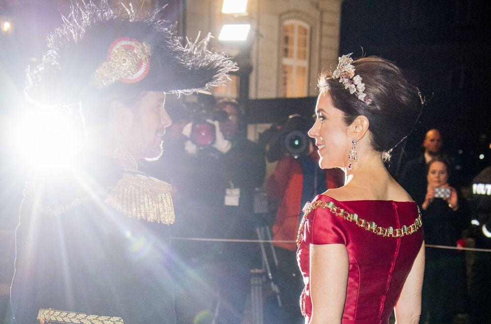 Foto: Federico y Mary en la recepción de año nuevo. (Gtres)