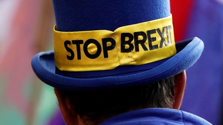 Manifestantes anti Brexit en Londres. (Reuters)