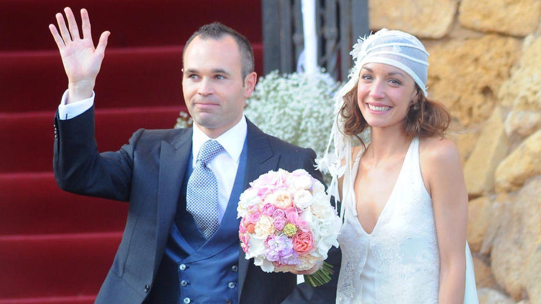 Andrés Iniesta y Anna Ortiz el día de su boda (I.C.)