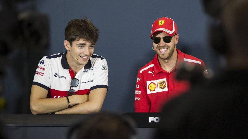 Foto: Leclerc podría compartir escudería con Vettel la temporada que viene. (Twitter: @Charles_Leclerc)