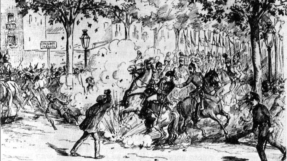 Foto: Atentado contra el general Martínez Campos. Foto: Wikipedia