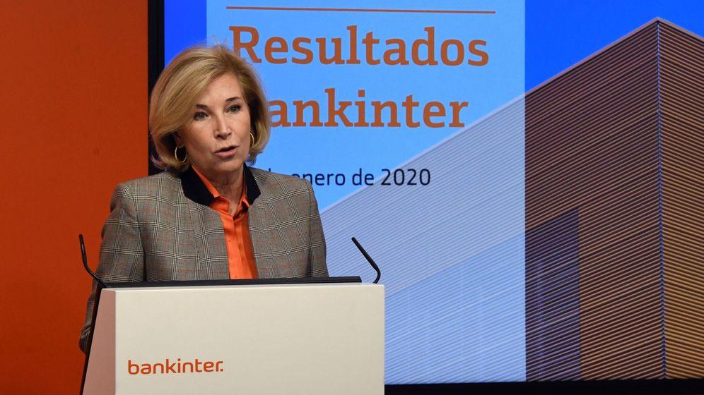Foto: La consejera delegada de Bankinter, María Dolores Dancausa, en Madrid durante la presentación de los resultados del 2019. (EFE)