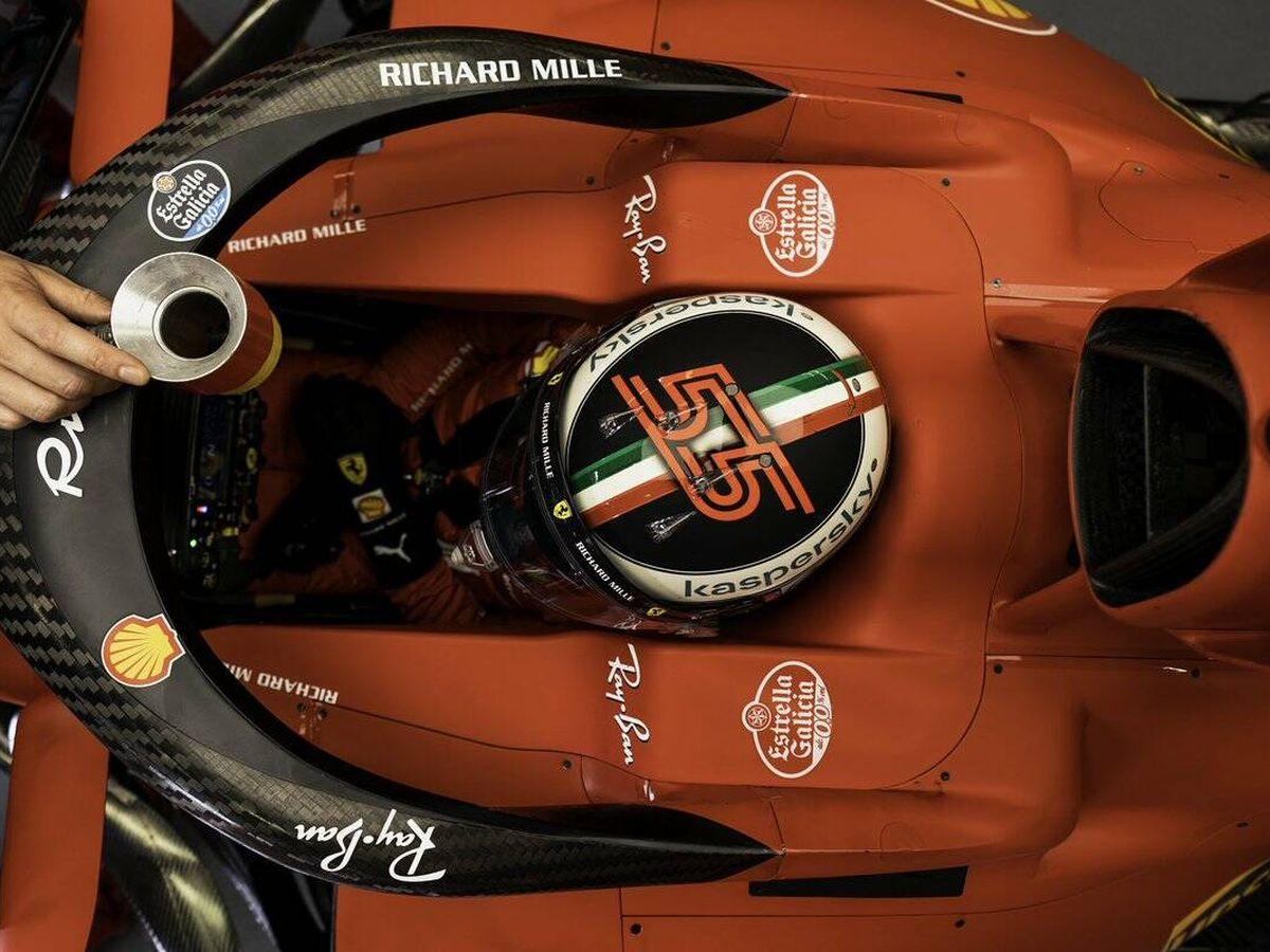 Foto: Para Carlos Sainz, el resultado de los primeros entrenamientos era el máximo al que podía esperar Ferrari