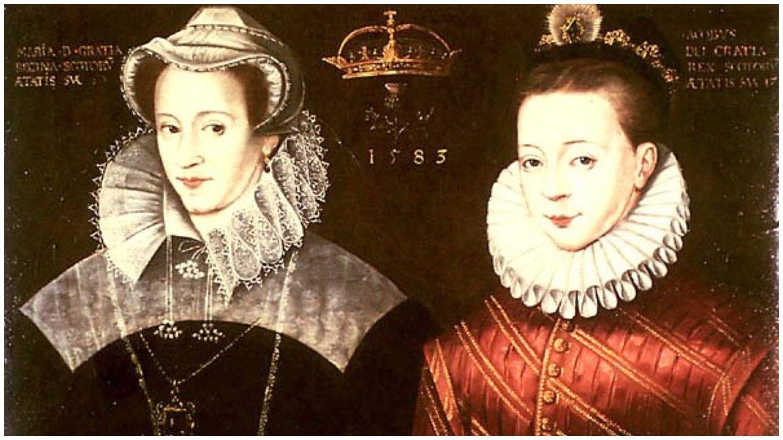 Montaje al óleo de dos retratos de María y su hijo Jacobo, de Nicholas Hilliard. (Archivo Stirling Castle)