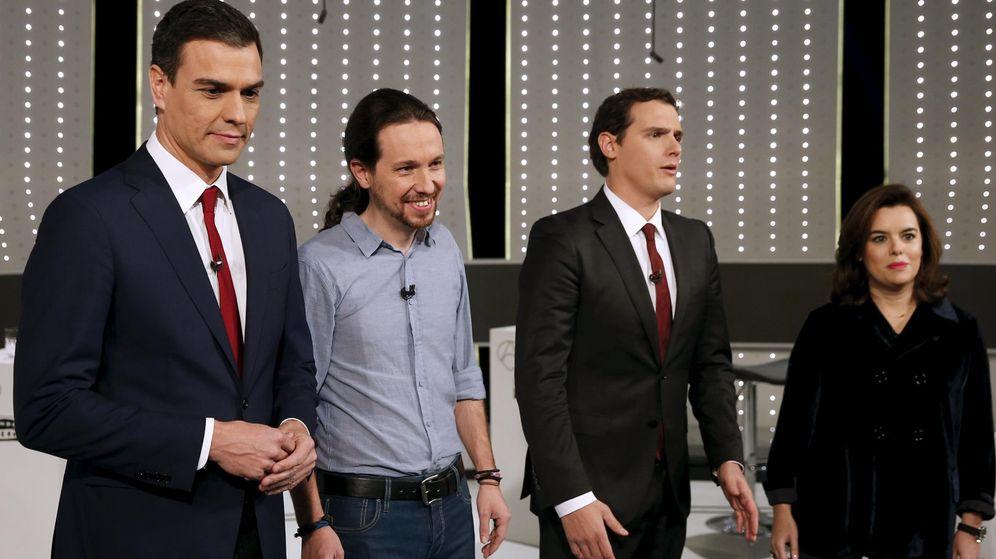 Foto: Imagen del debate a cuatro organizado por Atresmedia el pasado lunes. (Reuters)