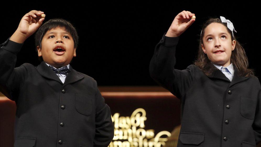 Foto: Cuarto premio para el 59.444, cantado en la primera tabla (EFE)