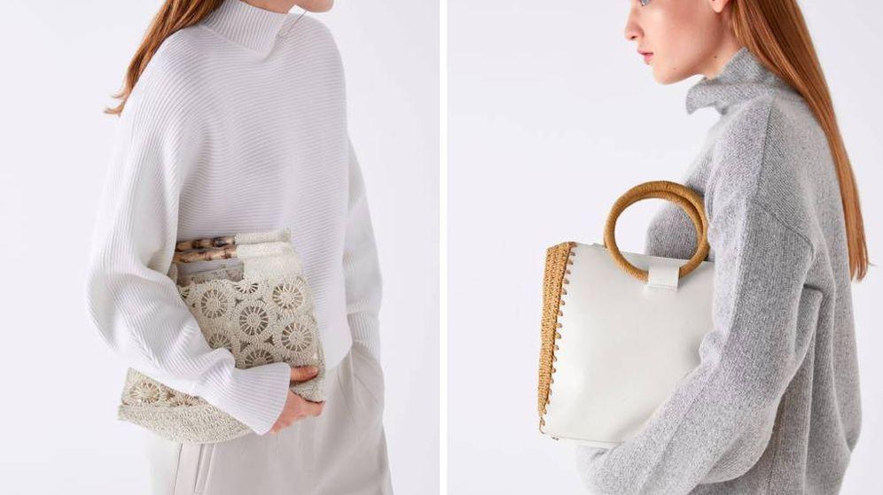 Foto: Un puñado de bolsos naturales invade la shop online de Zara. (Cortesía)