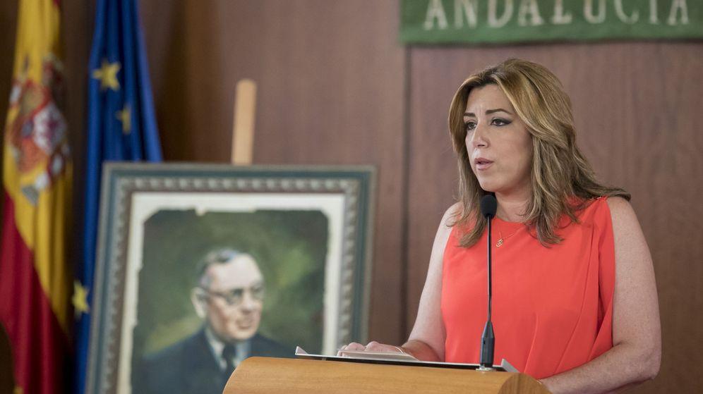 Foto: La presidenta de la Junta de Andalucía, Susana Díaz, en el acto de conmemoración del 132 aniversario del nacimiento de Blas Infante. (EFE)