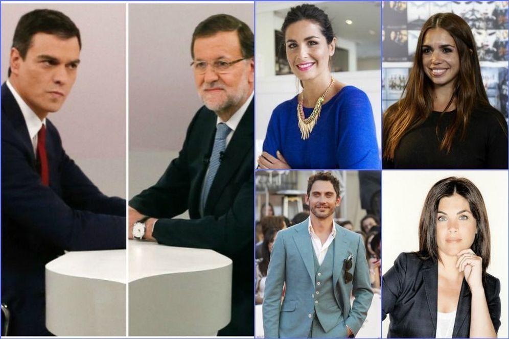 Foto: Algunos famosos se han pronunciado sobre el debate cara a cara