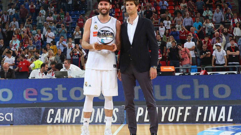Rudy Fernández fue elegido 'MVP' de la final de la Liga Endesa. (ACB Photo/A. Arrizabalaga)