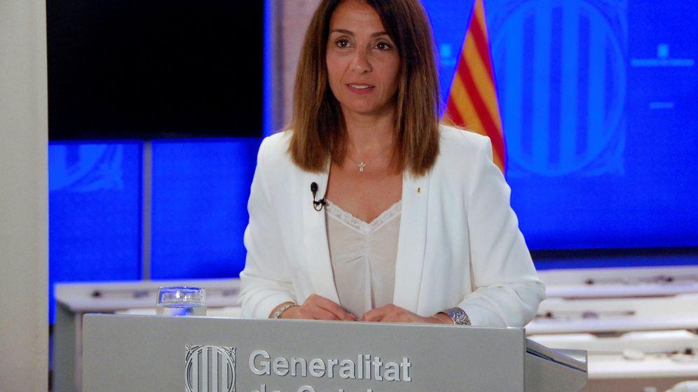 Foto: La consellera de Presidencia y Portavoz del Govern, Meritxell Budó. (EFE)
