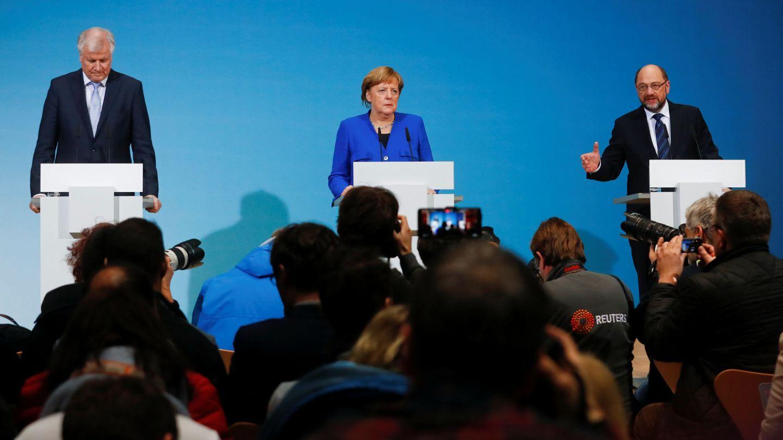 Rueda de prensa tras el acuerdo. (Reuters)