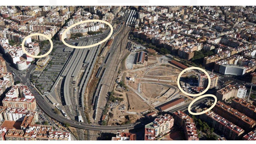 Foto: Las parcelas edificables de la primera fase del Parque Central de Valencia. (VPC)
