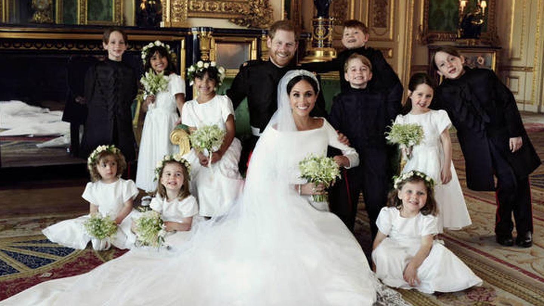 Los duques de Sussex, con los más pequeños de la familia real. (Alexi Lubomirski)