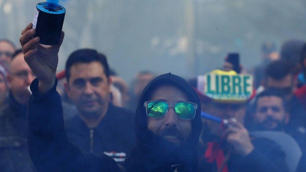 Foto: Protesta de taxistas en Madrid el pasado 18 de febrero. (Foto: Reuters)