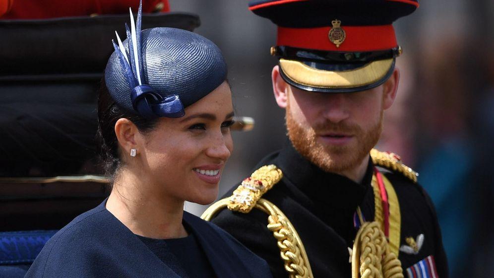 Foto: Los duques de Sussex en el Trooping the Colour. (Reuters)
