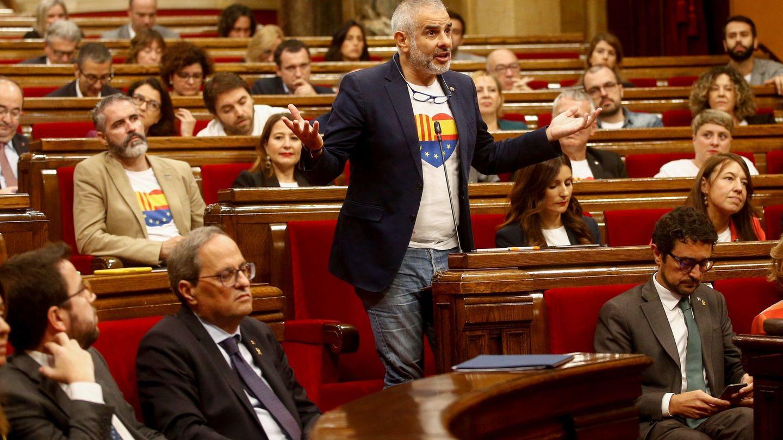 Carlos Carrizosa, en el Parlament. (EFE)